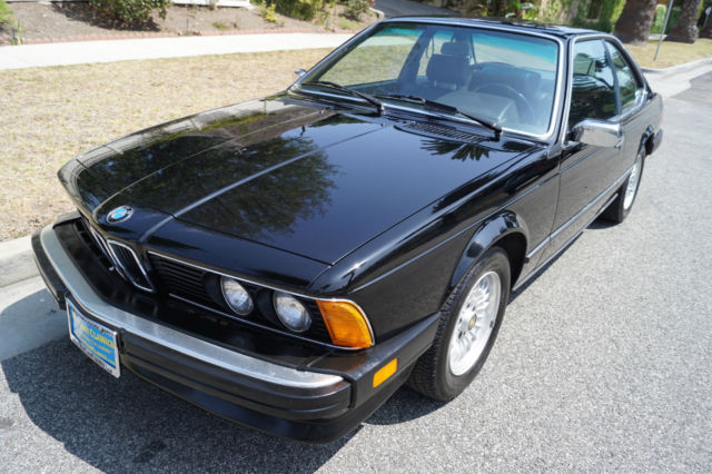 1985 BMW 6-Series 635CSi IN ALL BLACK  WITH 66K ORIGINAL MILES!