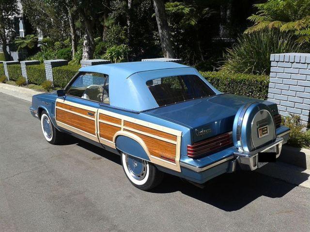 1985 86k Woody Town Country Conv Chrysler Lebaron Continental Kit