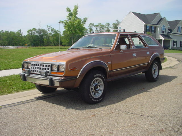 1985 Brown AMC Eagle Wagon with Brown interior