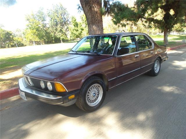 1985 Burgandy BMW 735 5 speed 735I -- with Tan interior