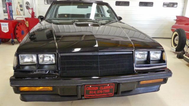 1985 Black Buick Regal T Type Turbo Grand National Coupe with Black interior