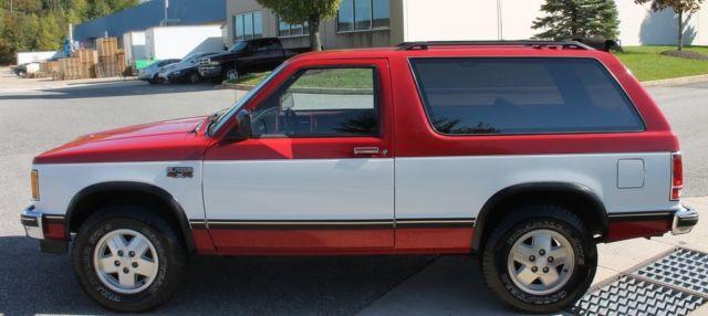 1985 CHEVROLET S10 BLAZER TAHOE EDITION 2 8L V6 4X4 MANUAL 2
