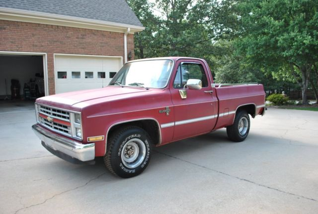 1985 chevy c10 1 2 ton silverado short bed pickup truck for sale photos technical. Black Bedroom Furniture Sets. Home Design Ideas