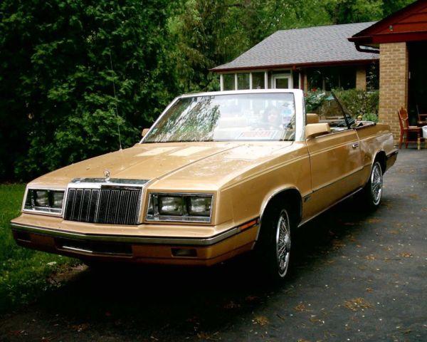 1985 chrysler lebaron convertible for sale