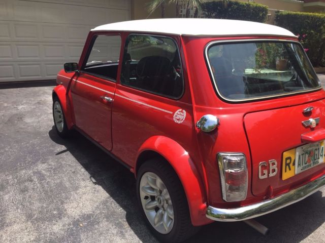 1985 RED Mini Classic Mini SPORTPACK Coupe with BLACK WHITE interior