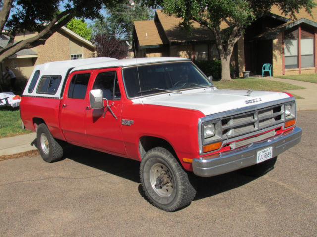 1985 dodge w350 base crew cab pickup 4 door 5 9l for sale photos technical specifications. Black Bedroom Furniture Sets. Home Design Ideas