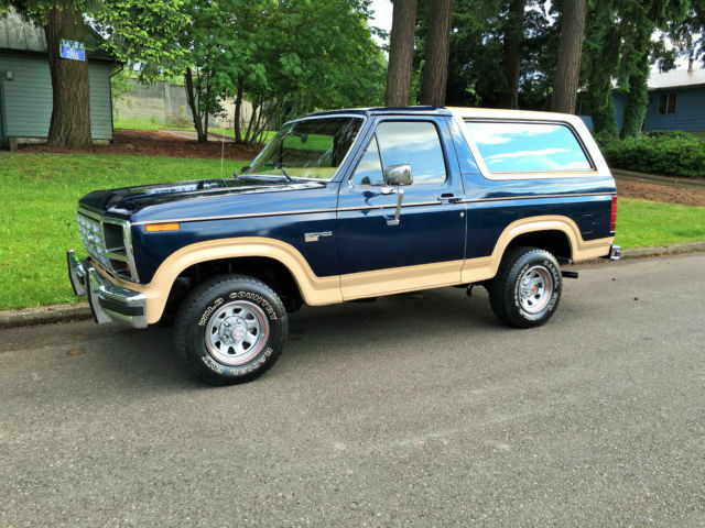 1985 ford bronco eddie bauer 4x4 for sale photos technical specifications description. Black Bedroom Furniture Sets. Home Design Ideas