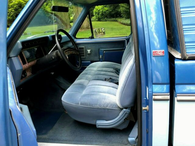 1985 Blue and Light Blue Ford F-250 Ford, F150, F250, Ext Cab, HD, 5.8L, 351, V8,Other Extended Cab Pickup with Blue interior