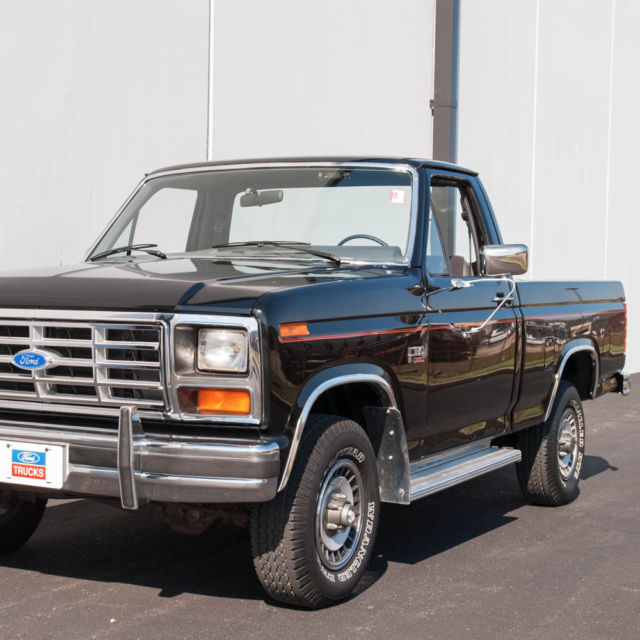 1985 ford f150 xl 4x4 pickup actual mileage pickup truck 12 449 miles for sale photos. Black Bedroom Furniture Sets. Home Design Ideas