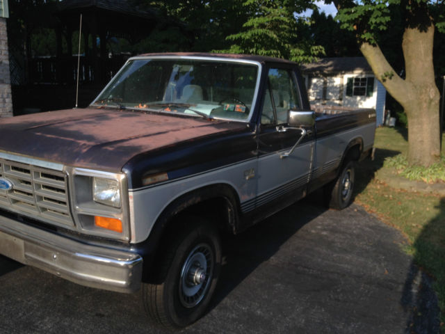 1985 ford f150 xl 4x4 pickup truck 4 9 engine 4 speed manual trans floor shift for sale photos. Black Bedroom Furniture Sets. Home Design Ideas