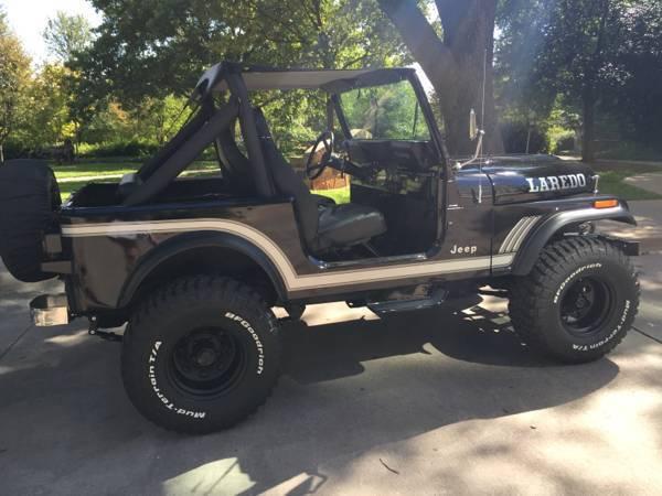 1985 Jeep CJ-7 258 6-Cyl Factory Automatic Black Restored ...