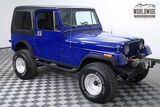 1985 Jeep CJ FRAME OFF RESTORED. PS. PB