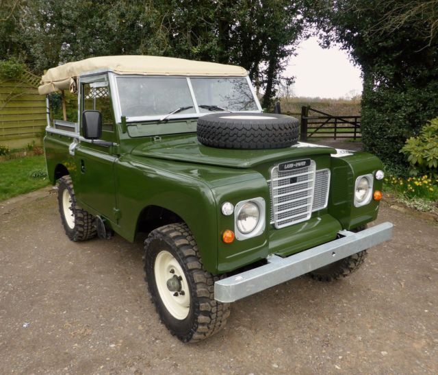 """1985 Land Rover Series 3 88"""" Ex Military Soft Top For Sale"""