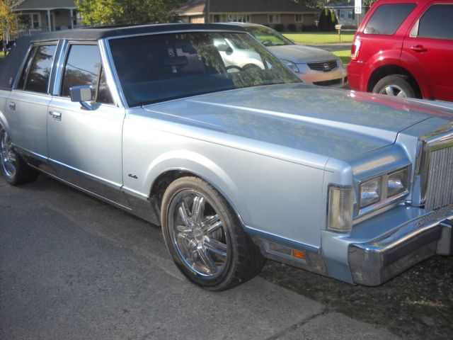 1985 Lincoln Town Car Rat Rod Hot Chrome Gasser Leather For Sale
