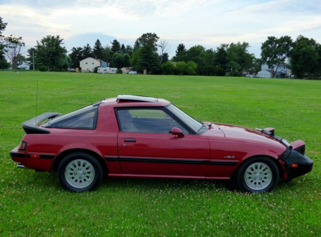 1985 Red Mazda RX-7 with Gray interior