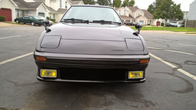 mazda rx7 1985 black. 1985 mazda rx7 gslse 22 savanna gt japanese spec rear seats black cherry mica rx7