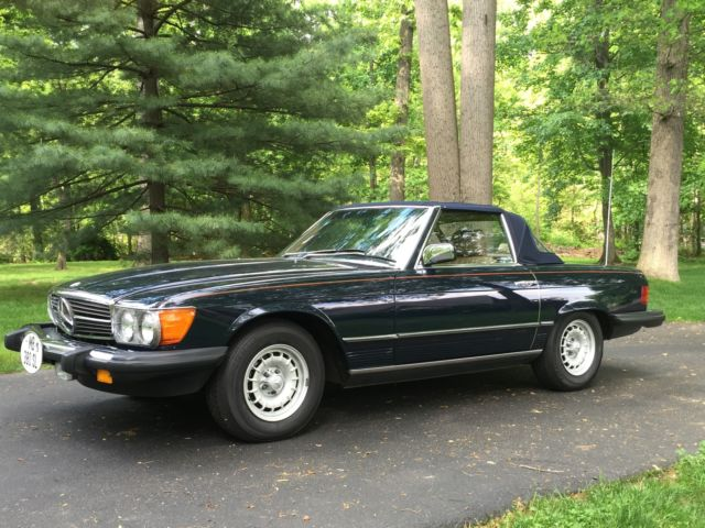 1985 Mercedes-Benz SL-Class Highly Original 52K Miles Dk Blue Tan