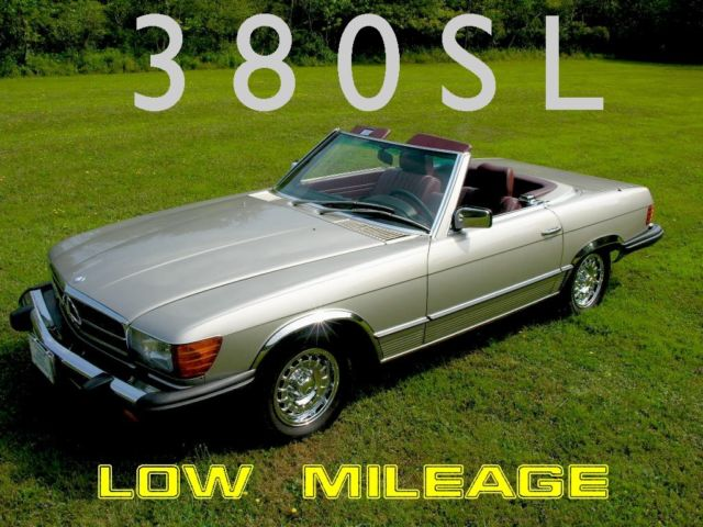1985 Mercedes-Benz SL-Class w/ Removable Hardtop  38K Miles!