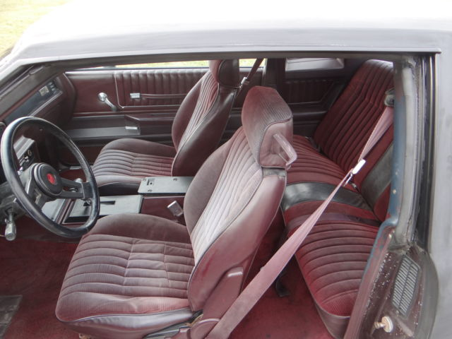 1985 Burgundy Chevrolet Monte Carlo Coupe with Burgundy interior