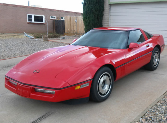 1985 Red Corvette With Z51 Package Nash 4 3 Manual Auto Transmission Very Clean For Sale  Photos