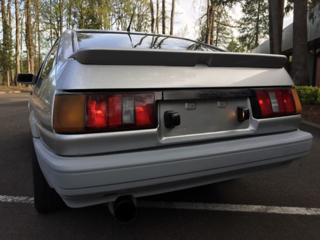 1985 Gray Toyota Corolla Hatchback with Black interior