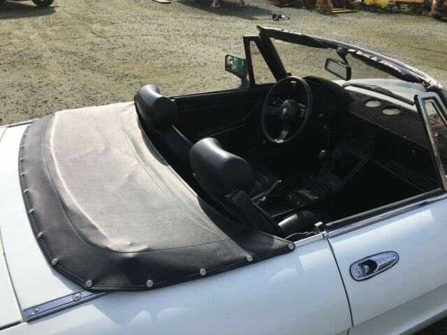 1986 White Alfa Romeo Spider Convertible with Black interior