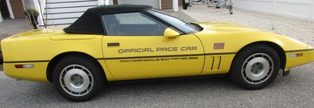 1986 Chevrolet Corvette OFFICIAL PACE CAR