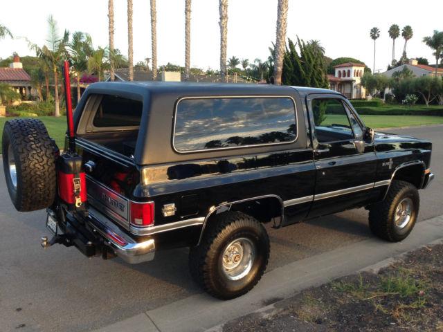 1986 Chevrolet K5 Blazer Custom Sport Utility 2 Door 5 0l