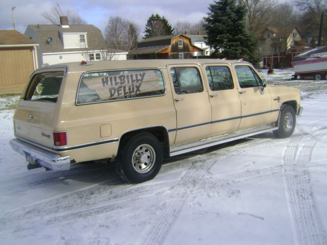 Limo For Sale >> 1986 Chevrolet Suburban 6 Door for sale: photos, technical specifications, description
