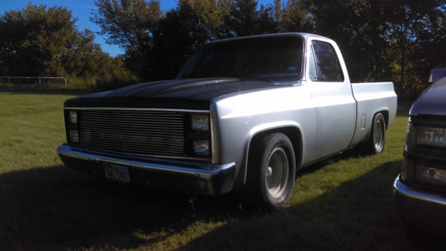 1986 Chevy C10 SWB Custom Silver Lowered C-notched Shaved Doors Roll Pan & 1986 Chevy C10 SWB Custom Silver Lowered C-notched Shaved Doors ... Pezcame.Com