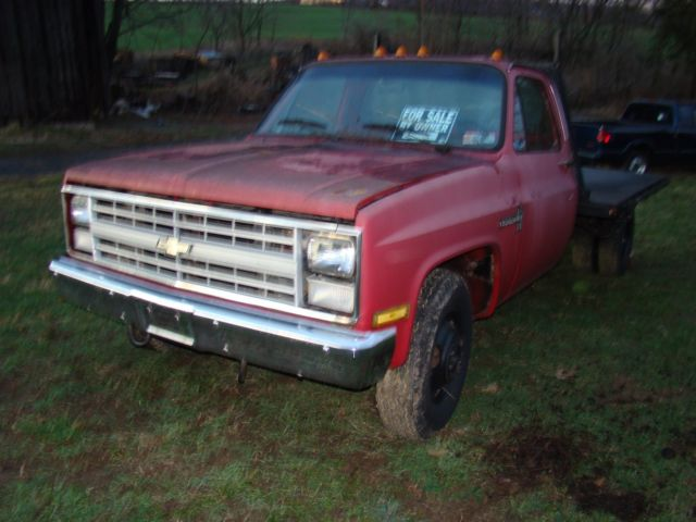 1986 Chevy C30 Truck With Flatbed Stake Body Bed For Sale Photos