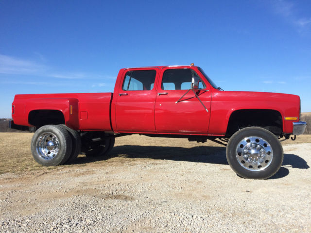 1986 Chevy K30 Crew Cab Dually Lifted For Sale Photos