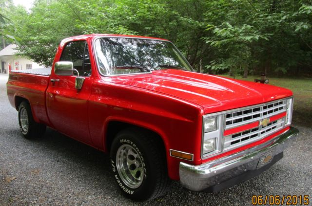 1986 chevy pickup restored 1 2 ton short bed for sale photos technical specifications description. Black Bedroom Furniture Sets. Home Design Ideas