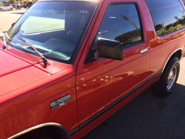 Team Chevrolet Vallejo >> 1986 Chevy S10 4X4 2dr 5 speed Blazer for sale: photos, technical specifications, description