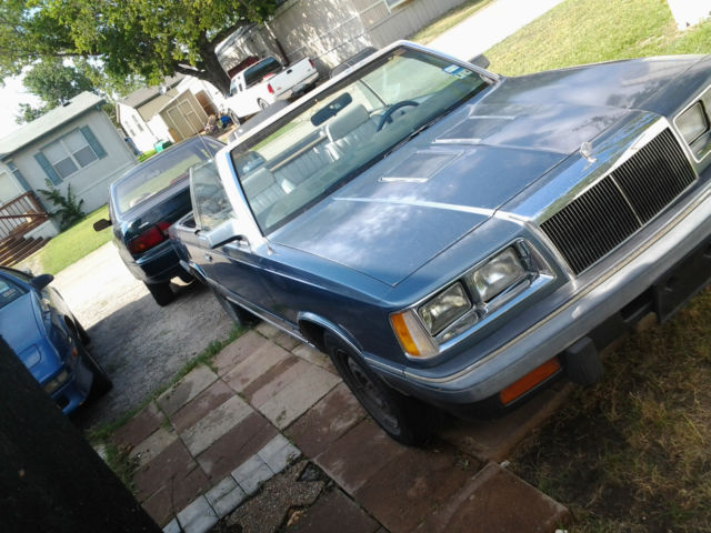 1986 Chrysler LeBaron mark cross signature edition