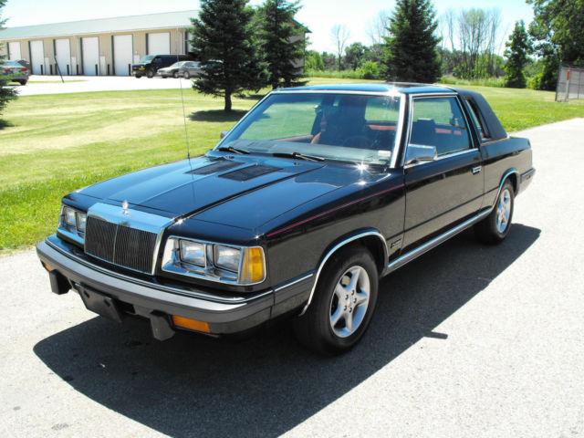1986 Chrysler Lebaron Turbo K Car Rare Very Clean Coupe