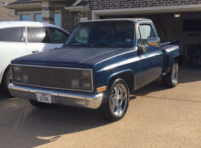 1986 Blue Chevrolet C-10 Standard Cab Pickup with Blue interior