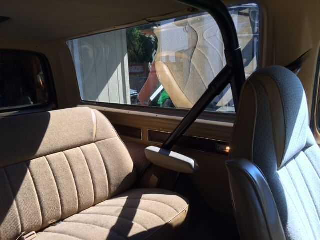 1986 Gold Dodge Ramcharger Hatchback with Tan interior