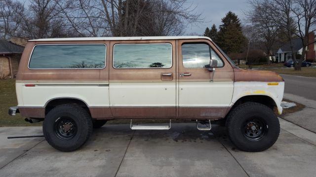1986 Ford E250 4x4 Pathfinder Quadravan Like Quigley Sportsmobile