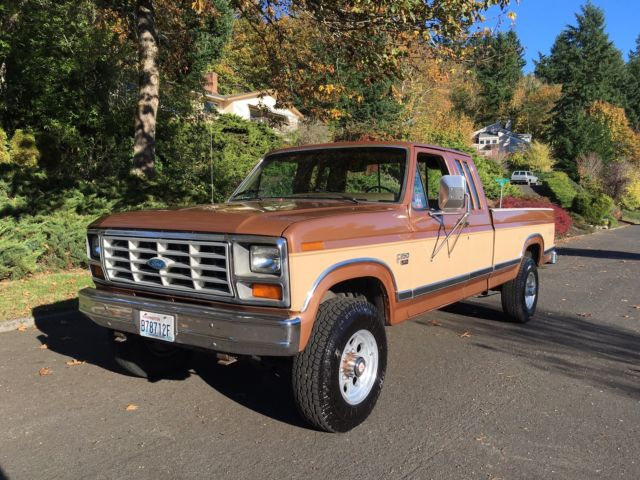 1986 ford f 250 xl supercab 6 9l turbo diesel 4x4 with low miles for sale photos technical. Black Bedroom Furniture Sets. Home Design Ideas