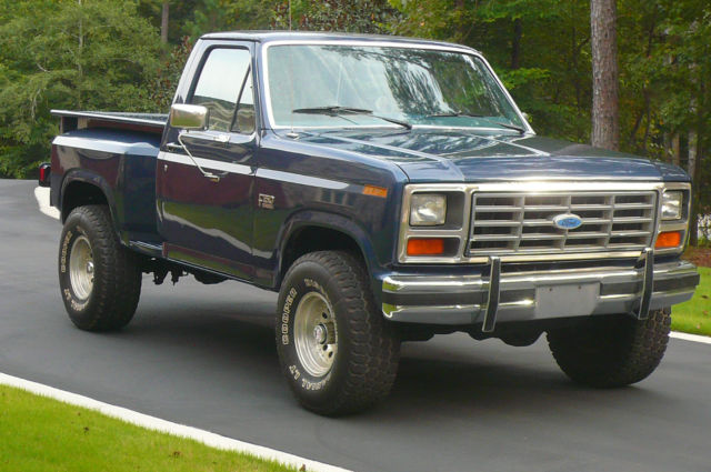 1986 ford f150 xl flareside 4x4 rare model rust free southern truck for sale photos. Black Bedroom Furniture Sets. Home Design Ideas