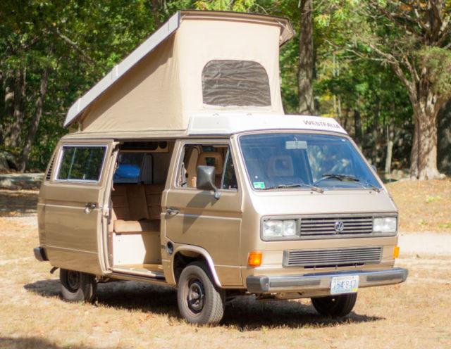 1986 Gold VW Vanagon Westfalia C&er Van / 10k miles / tent / awning / extras & 1986 Gold VW Vanagon Westfalia Camper Van / 10k miles / tent ...