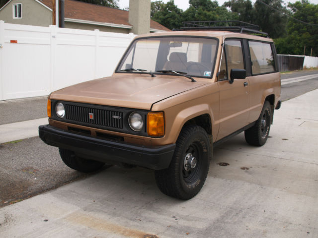 1986 Isuzu Trooper DLX Turbo Diesel 4x4 Manual Very Rare