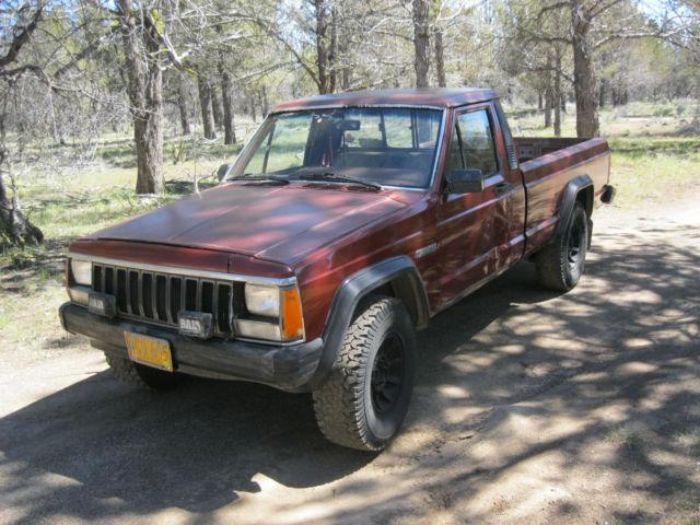 1986 Jeep Comanche Mj 4x4 5spd V6 28 Long Bed No Rust Runs And