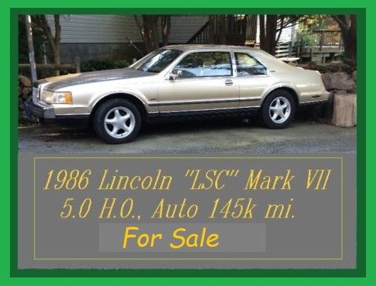 1986 Lincoln Mark Series LSC