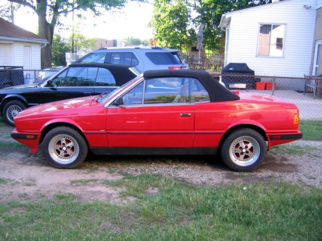 1986 Maserati Biturbo Spyder Convertible, Low Miles, No Rust At All for sale: photos, technical ...