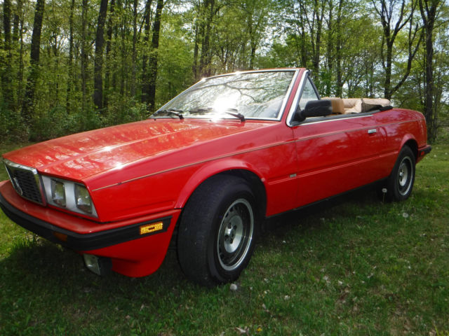 1986 Maserati Spyder BiTurbo - ONLY 36 K miles, Red and ...