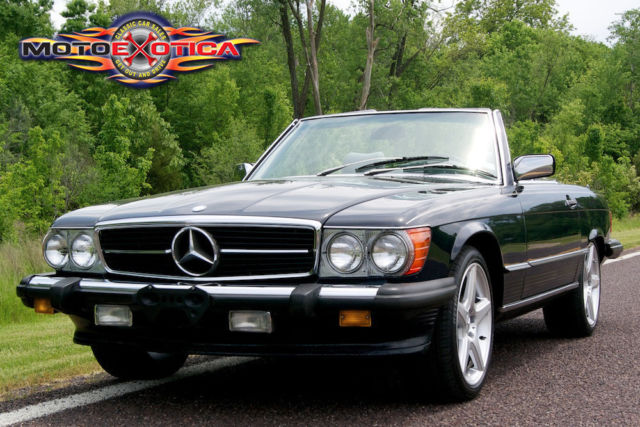 1986 mercedes benz 560sl 2 seat roadster amg wheels hard for Mercedes benz amg rims for sale
