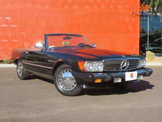 1986 Mercedes Benz 560sl 2 Top Roadster 5 6l V8 Chrome Wheels