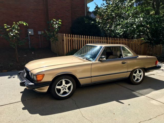 1986 Mercedes-Benz SL-Class convertible with  both rag and hard top
